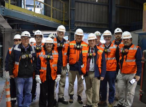 Comisión de Minería del Senado sesiona por primera vez en fundición de ENAMI