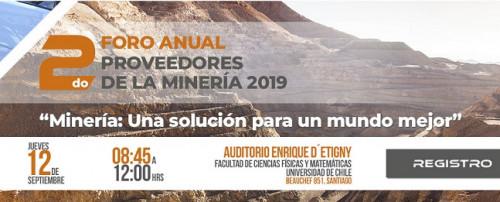 APRIMIN realizará 2do Foro Anual de Proveedores de la Minería Chilena 2019