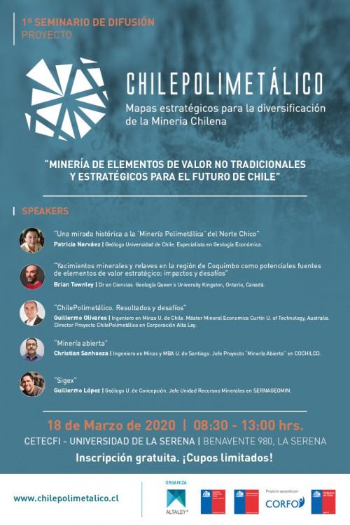 Chile Polimetálico: Seminario busca impulsar el desarrollo de una minería más allá del cobre