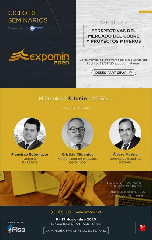 Expomin lanza ciclo de seminarios online a contar del 3 de junio
