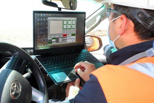 División Gabriela Mistral implementa sensor para medir humedad del material extraído en las pilas de lixiviación