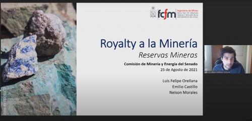 Académicos del DIMin presentan trabajo sobre royalty minero en Comisión de Minería y Energía del Senado
