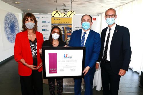 ABB en Chile recibe Sello Iguala Conciliación del Ministerio de la Mujer y Equidad de Género